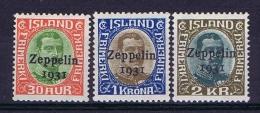 Iceland: 1931 Mi 147-149 MNH/**  Yv A9-11 - Luchtpost