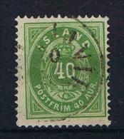 Iceland: 1876 Mi 11 A , 14,5 : 13,50 Perfo Used - Oblitérés