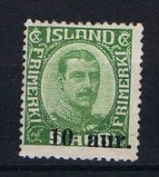 Iceland: 1922 Mi 110  MH/* - Ongebruikt