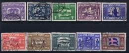 Iceland: 1930 Mi 125 - 134 Used - 1918-1944 Autonoom Bestuur