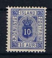 Iceland: 1900 Mi Dienstmarken 5Bb Perfo 12,5  MH/* - Dienstzegels