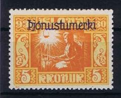 Iceland: 1930 Mi Dienstmarken 57 MH/* - Dienstzegels