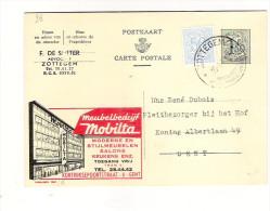 Publibel Obl. N° 1621A (Meuble  MOVILTA  - Gent)  Obl: Zottegem)15/01/1960 - Publibels