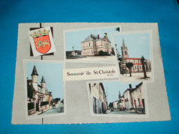 33) Souvenir De St-christoly N° 2 ( Multivus ) Grand-format  - Année 1962 -  EDIT- Combier - France