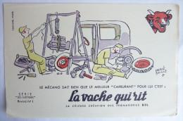"""BUVARD - LA VACHE QUI RIT - HERVE BAILLE - Série """"Les Métiers"""" N°1 - Food"""
