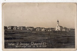 CLERMONT-FERRAND CARTE PHOTO EGLISE SAINT-JACQUES INAUGURATION LE 18-12-1932 RARE - Clermont Ferrand