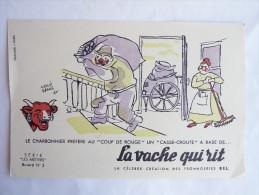 """BUVARD - LA VACHE QUI RIT - HERVE BAILLE - Série """"Les Métiers"""" N°3 - Food"""