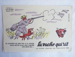 """BUVARD - LA VACHE QUI RIT - HERVE BAILLE - Série """"Les Métiers"""" N°4 - Lebensmittel"""