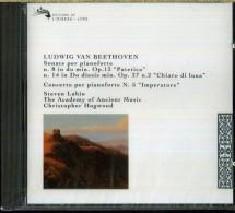 BEETHOVEN SONATE N.8 & N.14 CONCERTO IMPERATORE N.5 STEVEN LUBIN ACADEMY ANCIENT MUSIC HOGWOOD NUOVO SIGILLATO - Classica