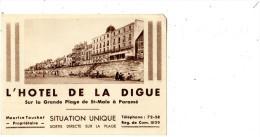PARAME L'HOTEL DE LA DIGUE SUR LA GRANDE PLAGE DE SAINT-MALO A PARAME DOCUMENT COMMERCIAL MULTIVUS - Publicités