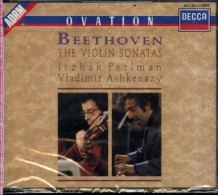 BEETHOVEN THE VIOLIN SONATAS PERLMAN ASHKENAZY 4 CD DECCA OVATION GALLERIA NUOVO SIGILLATO - Klassik