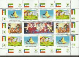 Fantasy Label Disney Cartoon Mickey Melody Pluto Donald Piter Pen 2 BIG SHEET  24 Stamps - Fantasy Labels