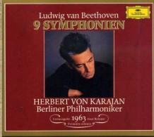 BEETHOVEN 9 SYMPHONIEN BERLINER HERBERT VON KARAJAN COFANETTO 5 CD DG NUOVO SIGILLATO - Classica