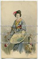 CARTOLINA COSTUMI GIAPPONE VIAGGIATA ANNO 1907 - Costumi