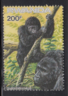 Rwanda MNH Scott #1212 Ex Souvenir Sheet 200fr Gorilla Gorilla Beringei - WWF - Rwanda