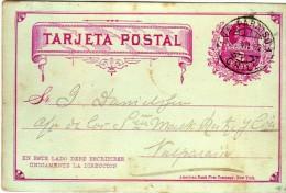 1818   Entero Postal  Valparaiso Chile 1892 Colon 2 Cts - Chili