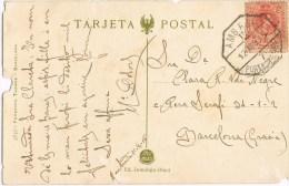 9205. Postal MONTCADA (barcelona) 1915. AMBULANTE Ferrocarril - 1889-1931 Reino: Alfonso XIII