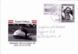 Brief Von 6010 Innsbruck Auf 55 Cent Vordruckkuvert Rupert Hollaus Schmuckkuvert + 7 Cent  2011 - 1945-.... 2ème République