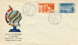 """1957 Turkey Cachet FDC """" Medical Congress"""" In Istanbul With Complete Set Of Stamps - Other"""