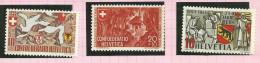 Suisse N° 368 à 370 Neufs Sans Charnière Côte 2.65 Euros - Unused Stamps