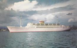 M.S. Bergensfjord, Norwegian American Line, BAHAMAS, 40-60's - Ships