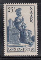Saar MH Scott #224 25fr St. Peter - Holy Year - 1947-56 Occupation Alliée