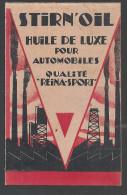 Carnet De Commande De L´huile Stirn´oil Huile De Luxe Pour Automobiles Qualité REINA-SPORT Des Années 1920 - Publicités