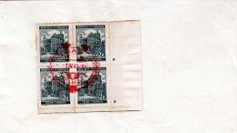 BÖHMEN UND MÄHREN 1941 - 2 K Vierer Block Mit Randstücke Auf Briefstück Mit Sonderstempel - Böhmen Und Mähren