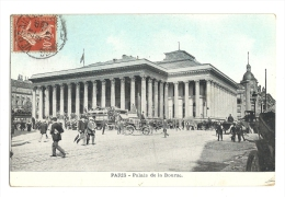 Cp, 75, Paris, Palais De La Bourse, Voyagée 1907 - Frankrijk