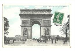 Cp, 75, Paris, Arc De Triomphe De L'Etoile, Voyagée - Arc De Triomphe