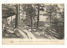 Cp, 77, Fontainebleau, La Forêt, Rocher Du Belvédère-Corot - Gorge Aux Loups - Fontainebleau