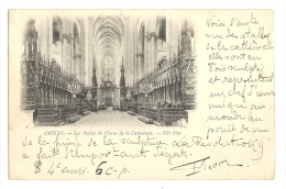 Cp, 80,Amiens, Les Stalles Du Choeur De La Cathédrale, Voyagée 1900 - Amiens