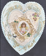 VALENTINE    19th CENT.  MULTI  LAYERED  EMBOSSED - Valentine's Day