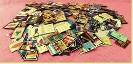 Ca. 350 Alte Streichholzschachtel-Etiketten - Oberteile Der Zündholzschachteln - 1950er / 1960er Jahre - Zündholzschachteln