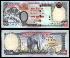 Nepal 2013 Newest 1000 Rupees Note UNC NO HOLES - Nepal