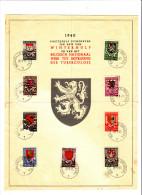 BELGIO  1940 - Yvert 538/46 - Lotta Alla Tubercolosi(un Valore Difettoso) - Documentos Del Correo