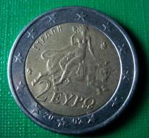 Greece Grece 2002 2 Euro 2€ ( Bimetal Bi-metal ) Circulated - Grèce