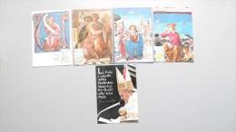 Vatikan 889/93 YT 792/6 Un 796/0 Maximumkarte MK/MC, ESST, Internationales Jahr Des Friedens - Cartes-Maximum (CM)