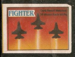India Fighter Aircraft Aeroplane Transport Match Box Packet Label Large Size Inde Indien # 3624 - Matchbox Labels