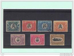 REPUBBLICA  DOMINICANA:  1902  IV° CENT. FONDAZIONE  S. DOMINGO  -  S. CPL. 7  VAL. T.L. (5 C. US.)  -  YV/TELL. 110/16 - Dominican Republic