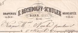 F2 - BARR 1896 - E. BECHDOLFF SCHULER - DRAPERIES -  ALSACE - BAS RHIN - 67 - - France