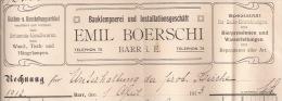 F5 - BARR 1913 - EMIL BOERSCHI - CUISINE - ARTICLES DE MAISON - PLOMBIER - ALSACE - BAS RHIN - 67 - - Francia