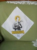 """Fazzoletto """"San Gerardo"""" In Cotone Stampato Con Ricamo Fatto A Mano - Religione & Esoterismo"""