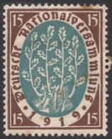 Germany, 15 Pf. 1919, Sc # 106, Mi # 108, MH - Germany