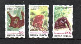 INDONESIE. N°1270-2 De 1981 Neufs Sans Charnière (MNH). Orang-outang. - Apen
