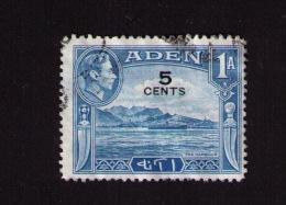 Timbre Oblitéré Aden (Yémen), Port D´Aden, Roi George VI (1895-1952), 1, 1939, Surcharge - Aden (1854-1963)