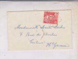 TIMBRE SEUL SUR ENVELOPPE NO 724 - Marcophilie (Lettres)
