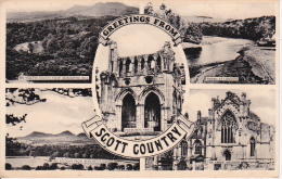 PC Greetings From Scott Country - Bemersyde, Tweed, Melrose (5783) - Roxburghshire