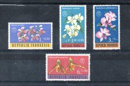 INDONESIE. N°314-7 De 1962 Neufs Sans Charnière (MNH). Orchidées. - Orchidées