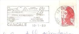 CACHET OBLITERATION FLAMME  CANCALE HUITRES BATEAU BISQUINE LA CANCALAISE COTE EMERAUDE   ENVELOPPE 16X11 - Marcophilie (Lettres)